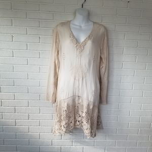 Johnny Was Embroidered and Lace dress